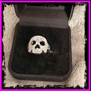 🆕 Sterling Silver Handmade Sugar Skull Ring